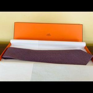 Authentic Hermes Silk Tie: Baguettes